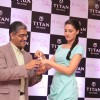 Bollywood actress Nargis Fakhri with Mr Ajoy Chawla,Vice president,Titan unveiling of the exquisite Raga Cities Collection of watches by Titan at World of Titan store in Bandra, Mumbai.