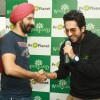 Bollywood actor Ayushman Khurana with Woodland MD Harkirat Singh at the launch of Woodland's Fall winter collection in New Delhi (Photo:IANS/Amlan)