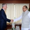 Maharashtra Governor K. Sankaranarayanan is seen with Belgium Minister for Administrative Affairs, Local and Provincial Government, Civic Integration and Tourism Geert Bourgeois after their meeting at Raj Bhavan, Mumbai on Thursday (1 Nov). ...