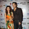Rahul Mahajan with wife Dimpy Ganguly at ITA Awards 2012