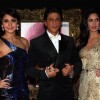 Anushka Sharma, Shahrukh Khan and Katrina Kaif at Red Carpet for premier of film Jab Tak Hai Jaan