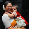 Sai Deodhar with her daughter at launch of their Production house Thoughtrain Entertainment