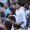 Bollywood actor Shreyas Talpade at funeral of Shiv Sena Supreme Balasaheb Thackeray at Shivaji Park in Mumbai.