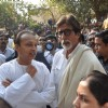 Anil Ambani, Amitabh Bachchan at funeral of Shiv Sena Supreme Balasaheb Thackeray at Shivaji Park in Mumbai.