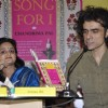 Author Chandrima Pal with Director Imtiaz Ali at her first novel A Song for I in Mumbai.