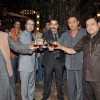Pramod, Anant, Ashutosh, Ranjeet and Manoj at First item song shoot of film Soda