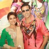 Akshay Kumar and Asin at a press conference for the  film ''Khiladi 786''