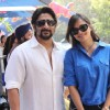 Arshad Warsi with wife Maria Goretti at India�s first RedBull Soapbox Race 2012 in Mumbai