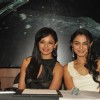 Bollywood actresses Pooja Kumar and Andrea Jeremiah at the film Vishwaroop press meet at Hotel JW Marriott in Juhu, Mumbai.