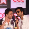 Sohail Khan and Ritesh Deshmukh at CCL broadcast tie up announcement with Star Network