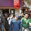 Salman Khan at film DABANGG 2 promotions at Cafe Coffee Day