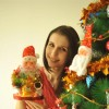 Claudia Ciesla pose during the special photo shoot celebrating Christmas with �Christmas tree�