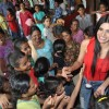 Sherlyn Chopra turns Santa for street kids of 'The Ray of Hope' NGO