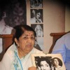 Lata Mangeshkar with her sister and singer Usha Mangeshkar during the launch of her calendar Hamsafar 2013