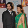 Sonali Bendre with husband Goldie Behl at Zee Cine Awards 2013