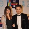 Ali Zafar with wife Ayesha Fazli at Zee Cine Awards 2013