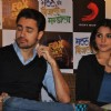 Imran Khan and Anushka Sharma at film Matru ki Bijlee Ka Mandola press meet in Hotel JW Marriott, Juhu, Mumbai.