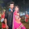 Nia sharma and kushal Tandon celebrating Lohri on the sets