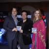 Bollywood actor Fardeen Khan and singer Adnan Sami with wife Roya Faryabi at the music release of his new album Press Play in JW Marriott, Mumbai.