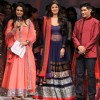 (L to R) Bollywood actresses Poonam Dhillon, Shilpa Shetty with fashion designer Manish Malhotra at the inauguration of the 56th All India Congress of Obstetrics and Gynecology (AICOG) fashion show by Manish Malhotra in Mumbai.