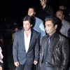 Bollywood actors Shah Rukh Khan and Sachin Joshi at film Mumbai Mirror premiere in PVR Cinemas, Juhu, Mumbai.