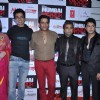(L to R) Bollywood actors Urvashi Sharma, Sonu Sood, Ravi Kishan and Sachin Joshi at film Mumbai Mirror premiere in PVR Cinemas, Juhu, Mumbai.