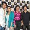 Bollywood actors Siddharth Malhotra, Alia Bhatt, Esha Gupta and Varun Dhawan at the announcement of Stardust Awards 2013 press Conference in Magna Lounge, Mumbai.