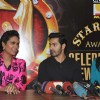 Bollywood actors Esha Gupta Varun Dhawan and Alia Bhatt at the announcement of Stardust Awards 2013 press Conference in Magna Lounge, Mumbai.