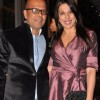 Fashion designer Narendra Kumar Ahmed with bollywood actress Pooja Bedi at the Jade Jagger's latest collaboration with Kerastase to design the bottle for Kerastase's Elixir Ultime a unique luxury brand in Mumbai on Wednesday, January 30th, evening.