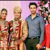 Nandish Sandhu with wife Rashmi Desai at Ajay Choudhary and Jyoti Makkar Wedding