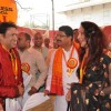 Hema Malini & Govinda at the inauguration of Jagannath Yatra celebrations