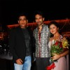 Ravi Kissen with Nandish Sandhu and Rashmi Desai at their Anniversary and Birthday Party
