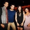 Vivian Dsena, Vahbbiz Dorabjee with Nandish Sandhu & Rashmi Desai at their Anniversary & Bday party