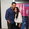 Bollywood actor John Abraham meets Bookmyshow contest winners of 'I ME AUR MAIN' in Mumbai on Thursday, February 28th.
