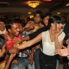 Pakistani Actress Veena Malik on her Birthday celebration for Guinness book of world record to be kissed more than 100 times by contestants