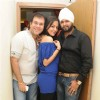 Avesh Dadlani with Dharti and Ramji Gulati at Preety Bhalla's birthday bash.