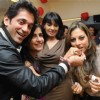 Rajiv and Shibani Kashyap with Preety Bhalla at her birthday bash.