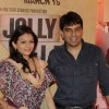 Prachi Shah with husband Vishwas Pandya at Premiere of movie Jolly LLB