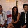 Ranbir Kapoor, Deepika Padukone and Karan Johar at Yeh Jawaani Hai Deewani first look launch