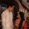 Nishad Vaidya as Amit and Chandni Bhagwanani as Amita in their Goddhana in Amita Ka Amit