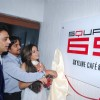 Anuj Saxena unviling the logo of new cafe lounge Square 69 on Saturday