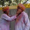 Javed Akhtar and Shabana Azmi celebrates Holi