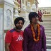Harshad Chopra at Iskon temple