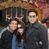 Abhishek Bachchan with wife Aishwarya Rai Bachchan and Manish Malhotra arrive in Vancouver for TOIFA