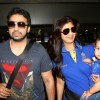 Shilpa Shetty snapped with her family at Mumbai Domestic Airport