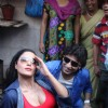 Veena Malik and Rajan Verma Promote their Movie Ziindagi 50-50 in Kamathipura Red Light Area