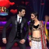 Sanaya Irani and Manish Paul on the sets of Jhalak Dikhhla Jaa