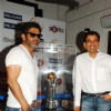 Suniel Shetty and Harsha Bhogle with Broadcast 92.7 Big FM during a unveiling the �International Cricket Council (ICC) Champions Trophy 2013�