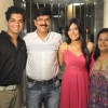 Pooja Gor with parents and Brother on her Birthday Party