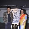 Sangeeta Bambini, Javed Akhtar and Shekhar Suman during Sangeeta's solo Art Show